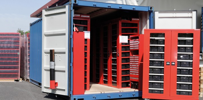Container solutions w rth group for Allestimento furgoni wurth